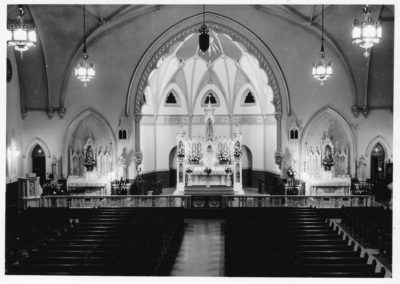 Interior of St. Patrick's 1963