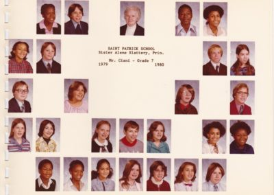 St. Patrick's School Grade 7 1979-1980